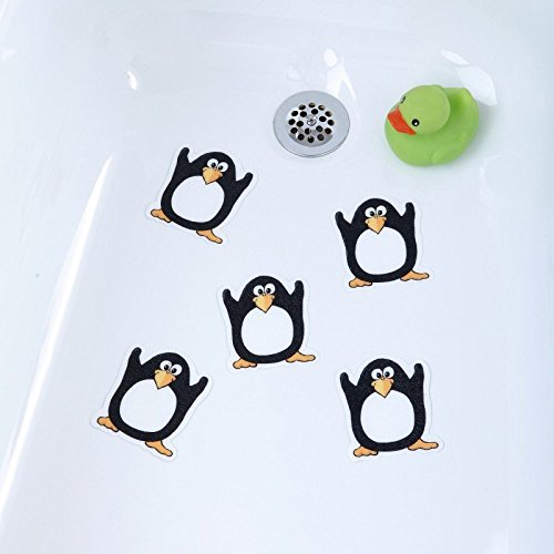 (Penguin) Tub Tattoos Bath & Shower Non-slip Treads by SlipX Solutions Non slip