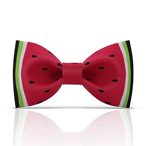 Lanzonia Funny Bow Ties for Men, Designer Watermelon Bowtie for Wedding Prom Party Graduations