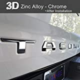 Automotive : Aukee Tailgate Letters for Toyota Tacoma 2016 2017 2018 2019 Emblem Inserts 3D Raised Metal (Chrome)