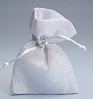 734d46d848fc FLM® 50 sacchetti di Juta bianchi per bomboniere confetti compleanni  matrimonio stile shabby chic