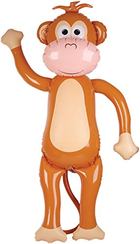 57'' Jumbo Brown Tan Inflatable Monkey Zoo Animal Party Decoration by Rhode Island Novelty