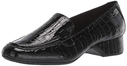 Anne Klein Women's Kamden Loafer Flat, Black Multi, 9 M US
