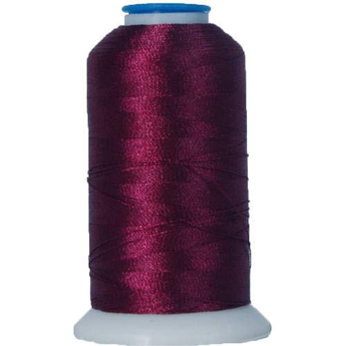 Threadart Polyester Machine Embroidery Thread By the Spool - No. 397 - Warm Wine - 1000M - 220 Colors Available