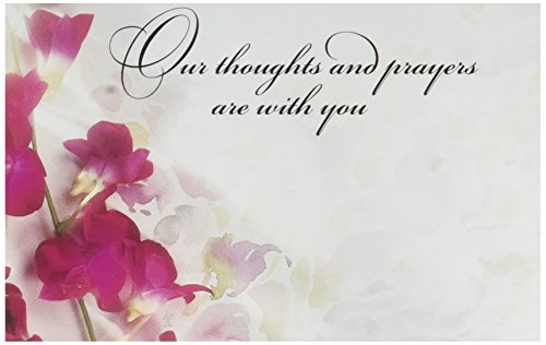 Thoughts and Prayers Sympathy Enclosure Cards 50 Pack- Gift - Personalized Enclosure Gift