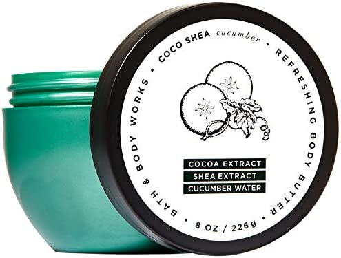 Bath and Body Works COCOSHEA CUCUMBER Refreshing Body Butter 8 Ounce 2018 Edition