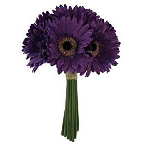 Purple Daisy Bouquet - Bridal Wedding Bouquet 6