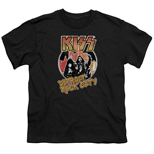 Kids KISS Detroit Rock City Youth T-shirt, Black, Large