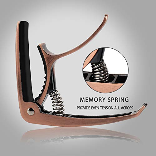 Guitar Capo, ORIEMARS Capo for Acoustic and Electric Guitars (Copper)