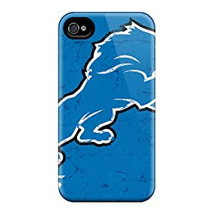 Shock Absorption Hard Phone Covers For Iphone 6plus With Customized High Resolution Detroit Lions Pattern CharlesPoirier