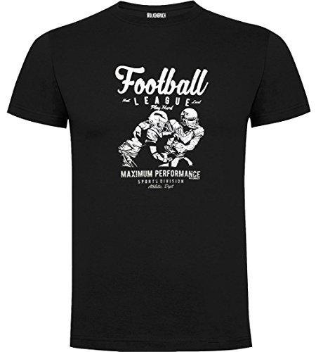 Wolkenbruch T-Shirt Football American, Schwarz, Gr.3XL