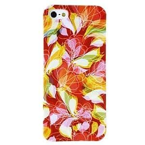 HC- Resumen patrón de flores Caso suave de TPU para el iPhone 4/4S , Multicolor