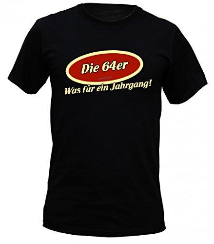 Birthday Shirt - Die 64er ... was für ein Jahrgang - 1964 - Lustiges T-Shirt als Geschenk zum Geburtstag - Schwarz