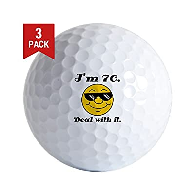 CafePress - 70Th Birthday Deal With It - Golf Balls (3-Pack), Unique Printed Golf Balls