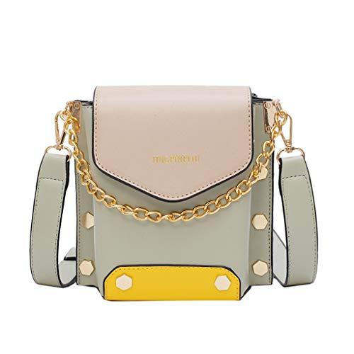 HunYUN Women Fashion Wild Leather Colorful Cute Crossbody Bag Shoulder Bags Purse Messenger Bags Cosmetic Bag Green