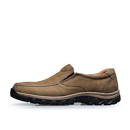 in Cachi mocassini on trekking da uomo Scarpe da slip casual antiscivolo sneaker 46EU VILOCY pelle outdoor Tqv6xI7w8
