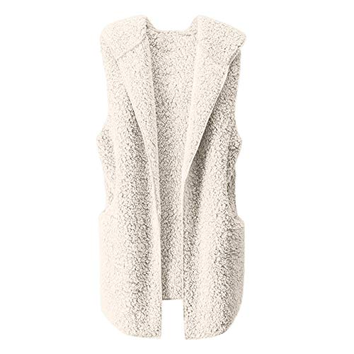 HYIRI Womens Vest Winter Warm Hoodie Outwear Casual Coat Zip Up Sherpa Jacket