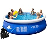 Steinbach Aufstellpool, Speed-Up Pool Set, blau, 366 x 366 x 84 cm, 6181 L, 010015