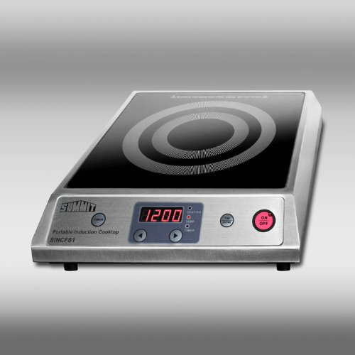 Summit SINCFS1 - Portable single zone induction cooktop with Black Ceran(TM) smooth-top finish (Ceran Top)