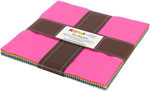 Kona Cotton Solids New Colors 2017 Ten Square 42 10-inch Squares Robert Kaufman TEN-596-42