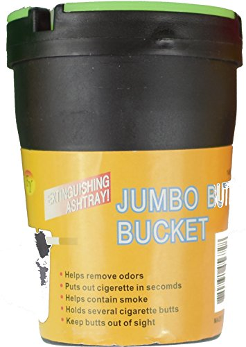 Jumbo Butt Bucket Extinguishing Ashtray | Top Glow in the Dark | Car Cigarette Ashtray (Black)