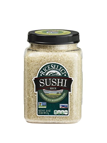 RiceSelect Sushi Rice, 32-Ounce (Pack of 4) (Sticky Sushi Rice)