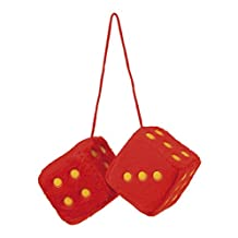 Sumex Branded 7x7cm Home & Car Mirrior Hanging Fluffy Furry Dice (Red)