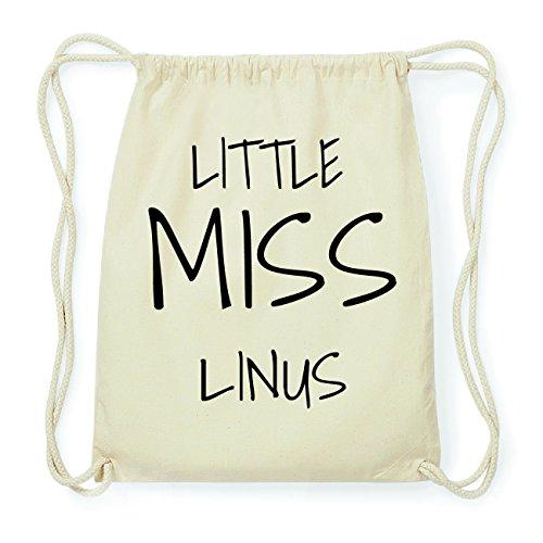 JOllify LINUS Hipster Turnbeutel Tasche Rucksack aus Baumwolle - Farbe: natur Design: Little Miss 27WCkKAon