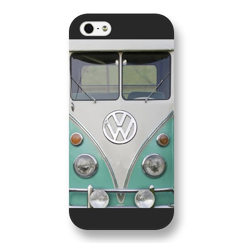 UniqueBox Customized Black Frosted VW Minibus iPhone 5 5s case