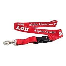 Alpha Omicron Pi Sorority Letter Lanyard Greek Keychain Key Attachment