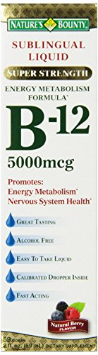 Nature's Bounty, Super Strength B 12, 5000mcg, 2 Ounce