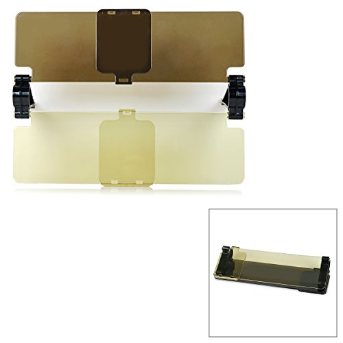 IDS Home DIY Clip-on Daytime + Night Sun Shield for Car - Yellow + Brown