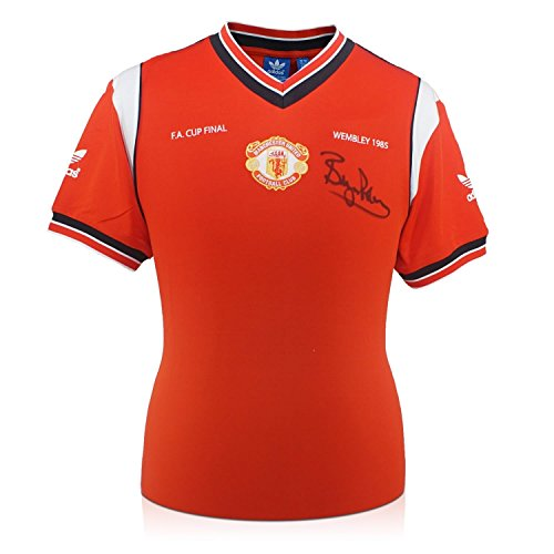 - Bryan Robson Signed Manchester United 1985 FA Cup Final Soccer Jersey | Autographed Memorabilia