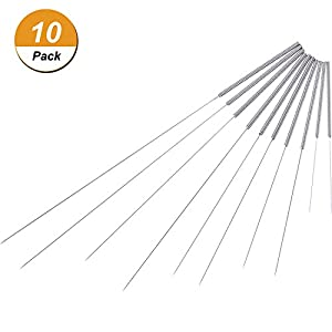 Hestya 10 Pieces Drill Bit for 3D Printer, Flexible Stainless Steel Nozzle Cleaning Tool Kit, Diameter Specification 0.2 mm, 0.3 mm, 0.35 mm, 0.4 mm, 0.5 mm by Hestya