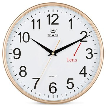 YFS 掛時計 無線ネットワークカメラ 壁掛け 時計 隠しカメラ WIFIビデオカメラ 遠距離監視可能 (1080P) B01NBL9IT9