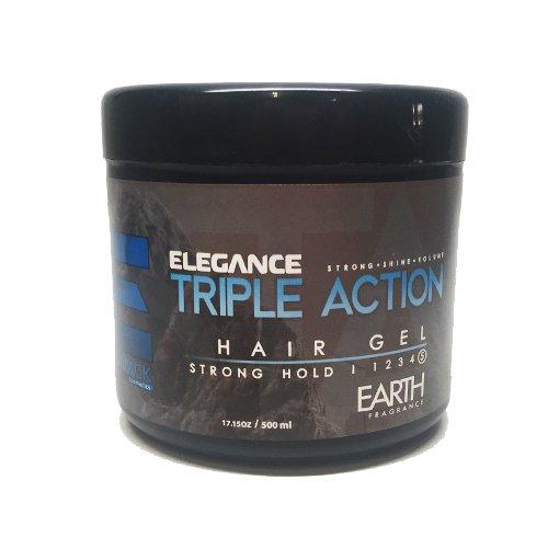 Price comparison product image Elegance Triple Action Hair Gel, Blue, 17.6 Ounce