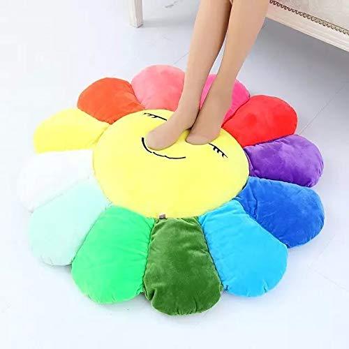 Amazon.com: PHOPHO Stuffed & Plush Plants - Colorful Flowers Creative Plush mats Meditation Cushion Smileys Emoticons Floor Cushions cojin gato 1 PCs: Toys ...