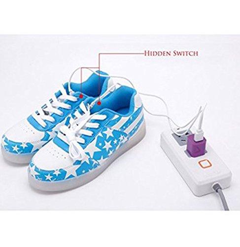 (Present:kleines Handtuch)JUNGLEST® 7 Farbe USB Aufladen LED Leuchtend Sport Schuhe Sportschuhe Sneaker Turnschuhe für Unisex-Erwa c25