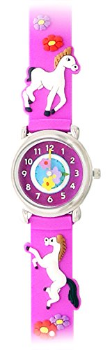 Playful Ponies (Light Purple) Girls Time Teacher Waterproof Pony Watch - Gone Bananas Kids Watches