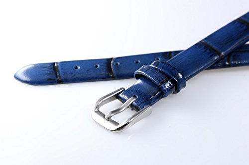 6mm Women's Superfine Luxury Blue Leather Watch Straps Mottled Small Sized Lighty Padded by autulet (Image #3)