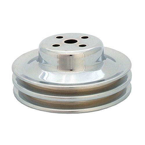 Spectre Performance 4494 Chrome Double Belt Water Pump Pulley for Ford 289 Chrome Belt Pulley