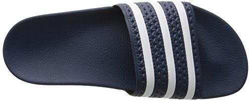 Adidas Heren Adilette Dia Sandaal Adidas Blauw / Wit / Adidas Blue