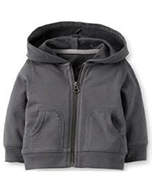 Boy's Charcoal French Terry Hoodie