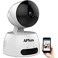 Wireless IP Camera, Aplus 720P HD Surveillance Camera Home WiFi Wireless Camera with Motion Detection Pan/Tilt, 2 Way Audio and Baby Video Monitor Nanny Cam With Motion Detection & IR Control