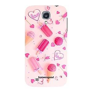 HomeSoGood Love Pink Love Girlie 3D Mobile Case For Samsung S4 (Back Cover)