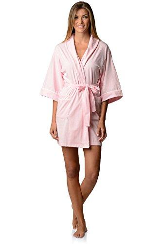 Casual Nights Womens Jersey Kimono Short Robe - Light Pink - X-Large (Kimono Jersey)