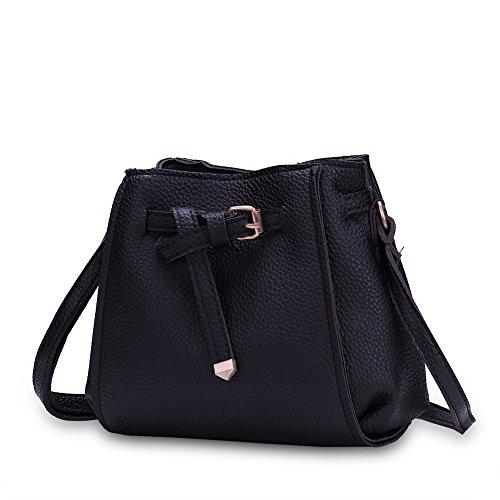 Faysting EU set borse con piccola borsa borsa a tracolla borsa a spalla per donna fashion stile nero pelle grande buon regalo per san valentino