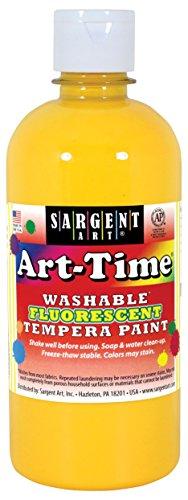- Sargent Art 17-4702 Art-Time 16oz Yellow Washable Fluorescent Tempera Paint