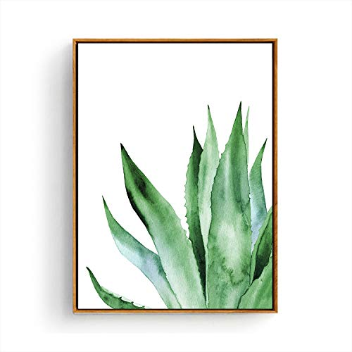 - Hepix Canvas Wall Art Agave Succulent Wall Paintings, Simple Tropical Leaves Print Framed Wall Pictures for Bedroom Bathroom Living Room Modern Home Decorations 13