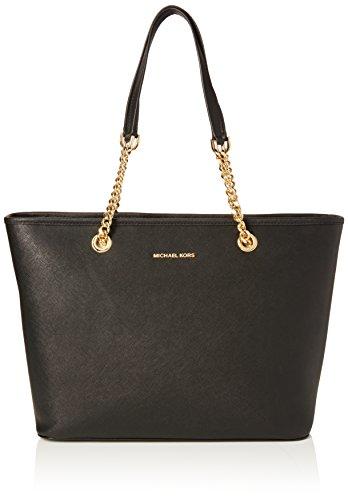 MICHAEL Michael Kors Jet Set Chain Tote Bag Black One (Jet Set Chain)