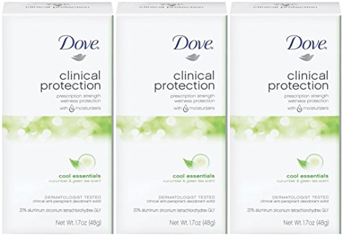 Dove Clinical Protection Cool Essentials Anti-Perspirant Deodorant, 1.7 Fl oz Pack of 3